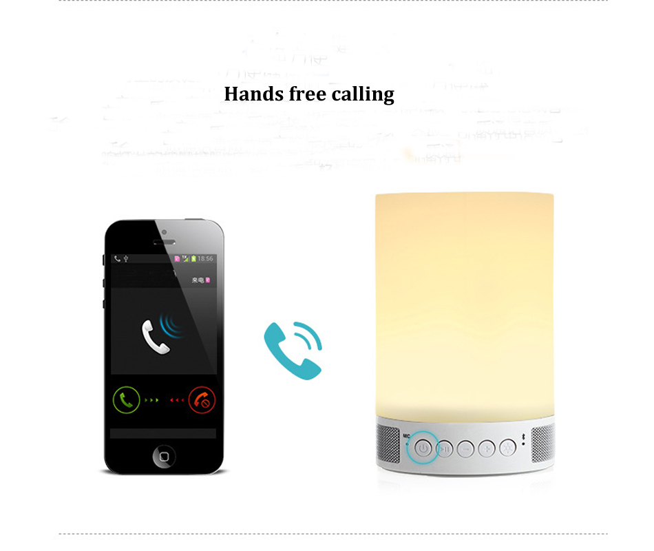 1800Mah rechargeable battery/ Mobile phone App control the bluetooth 4.0 speaker and Led colorful light Soft silicon lamp cover