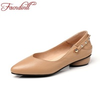FACNDINLL Genuine Leather Women Casual Dress Shoes New Spring Sutumn Leather Loafers Black Shoes Woman Office