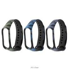 Camouflage Band For miband 3 strap pulsera wrist strap style mi3 smart band acce