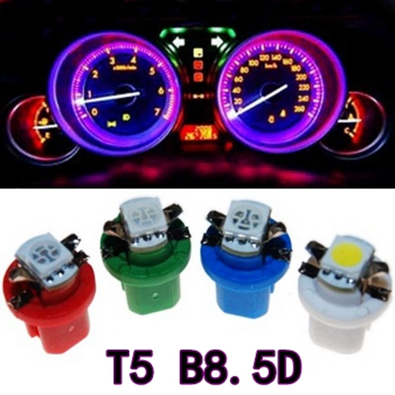 Qujuzawa 10Pcs B8.5D 509T B8.5 5050 Led 1 SMD T5 Car Gauge Speedo Dash Bulb Dashboard