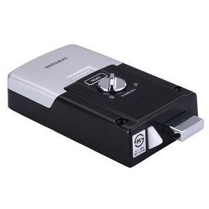 Image 3 - SAMSUNG sistema de seguridad EZON SHS 2920 con huella dactilar, cerradura de puerta Digital sin llave, con 2 etiquetas y 6 tarjetas RFID