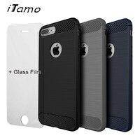 Excellent Grip Cover Case Temper Glass Film For IPhone 5 SE 6 S 7 Plus Slim