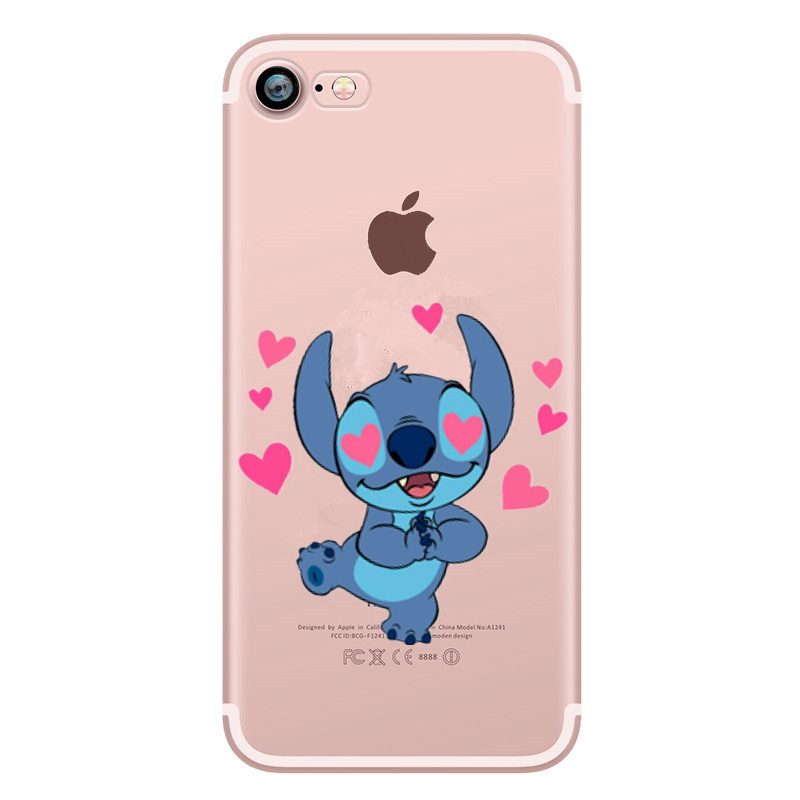 Cute Love Stitch Cover For iPhone 6 6s xr Case Soft Silicon case For iPhone X XS 7 8 Plus 6 6s 5 5s se 10 Case Capa Coque Funda