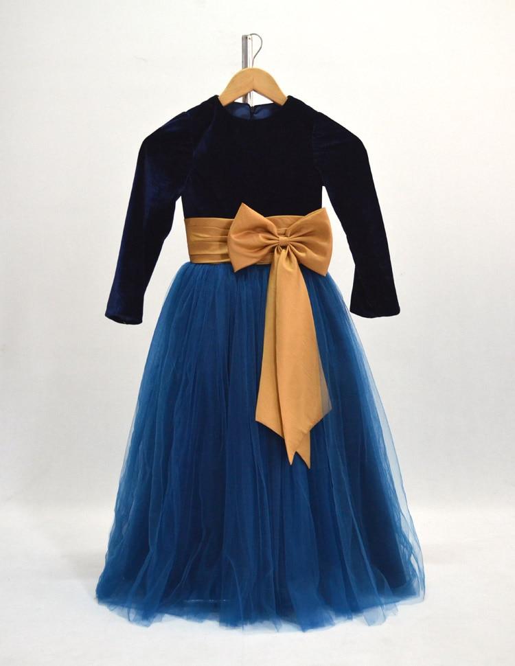 ФОТО Long sleeved Girls Princess Dress  girls tutu dress