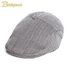 c65ebf2ea097f ファッションベビー帽子ハンサム綿リネン男の子キャップベレー弾性キッズ帽子ベビーアクセサリーのため