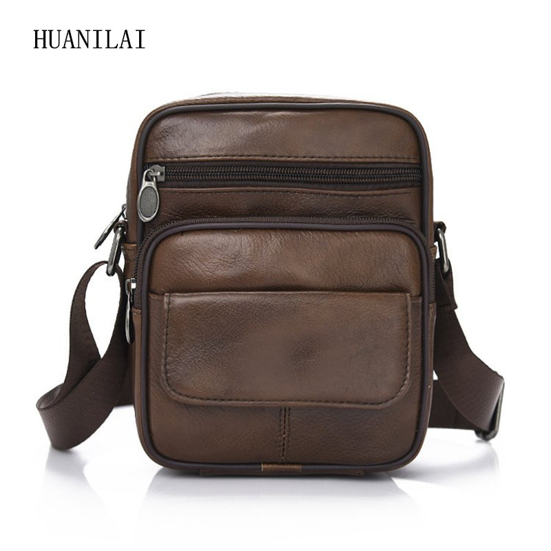 Male Cowhide Crossbody Bags For Men Shoulder Genuine Leather Retro Multifunction Handbags TY023