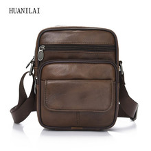 Male Cowhide Crossbody Bags For Men Shoulder Genuine Leather Retro Multifunction Handbags TY023