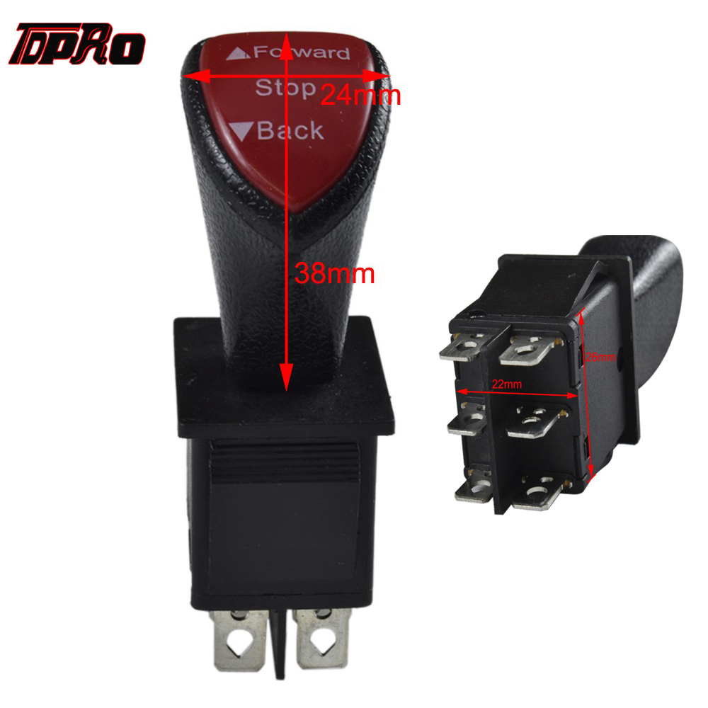 TDPRO 12v 24v 36v 48v Forward Reverse Switch Toggle For