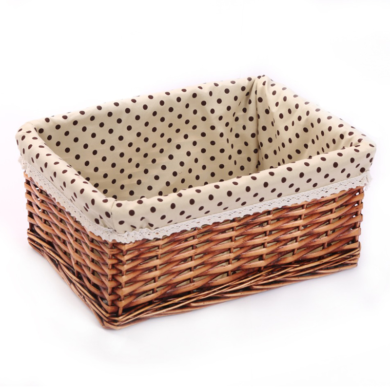Small Large Woven Wicker Storage Baskets Bins Zakka Rectangular Containers  Drawers Organizer Box Panier De Rangement Panier In Storage Baskets From  Home ...
