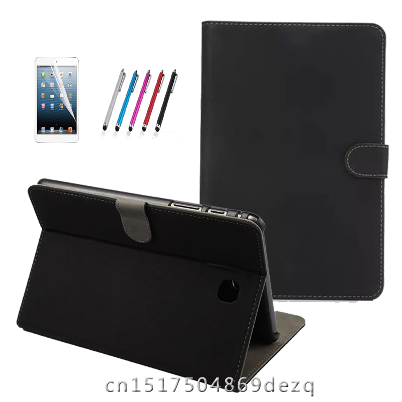 T350 T355 case for samsung galaxy tab A 8.0 SM-T350 SM-T355 SM-P350 P355 8'' tablet cover +screen protector+stylus luxury tablet case cover for samsung galaxy tab a 8 0 t350 t355 sm t355 pu leather flip case wallet card stand cover with holder