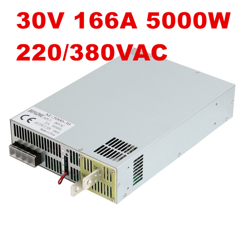 220/380VAC 5000W 30V 166A DC3-30V power supply 30V 166A AC-DC High-Power PSU 0-5V analog signal control SE-5000-30 DC30V Power 3500w 30v 116a dc 0 30v power supply 30v 116a ac dc high power psu 0 5v analog signal control se 3500 30