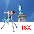 18x Zoom Telephoto Lens Optical Telescope Phone Lenses Kit For Samsung Galaxy Note 2 3 4 5 iPhone 6 6s 7 Plus Case Mobile Tripod