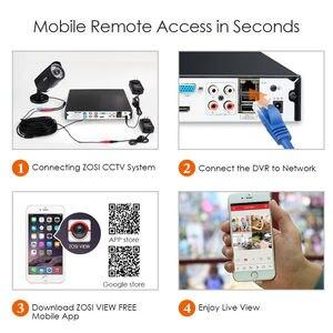 Image 4 - ZOSI grabador de vídeo DVR híbrida de alta definición 4 en 1 HD TVI, 2,0 MP, 4 canales, Full 1080P, para registro de Sistema de cámaras de seguridad CCTV