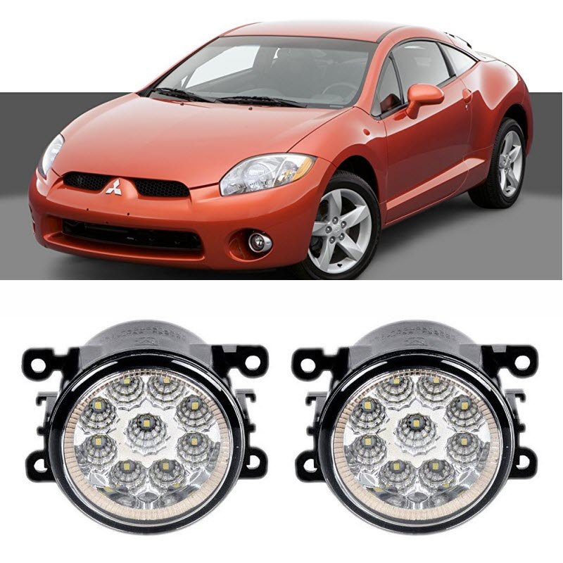 Car-Styling For Mitsubishi Eclipse 2006-2012 9-Pieces Led Fog Lights H11 H8 12V 55W Fog Head Lamp