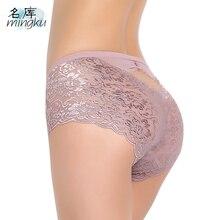 Women underwear Sexy panties Lace woman crotchless culotte femme knickers antibacterial fiber soft transparent  cueca briefs
