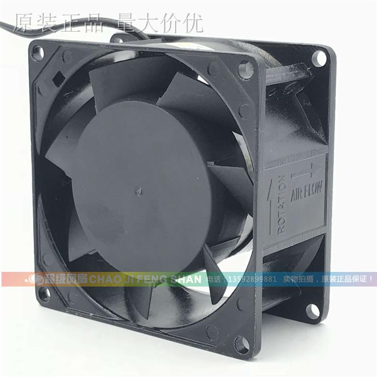 Emacro For FULLTECH UF-80A12 Server Square Fan AC 120V 50/60Hz 2-wire emacro udqfrjp05dcm dc28000akp0 server square fan dc5v 0 18a 4 wire