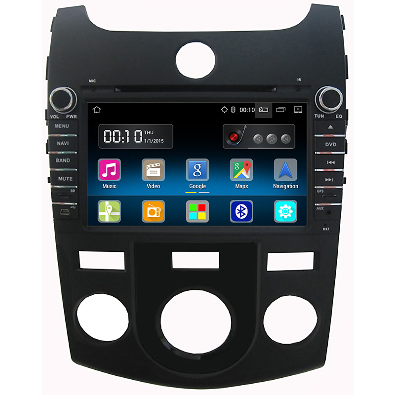 Android 5.1 Car DVD Player for Kia Forte Cerato 2008 2009 2010 2011 2012 Radio gps bluetooth OBD2 Steering wheel Control