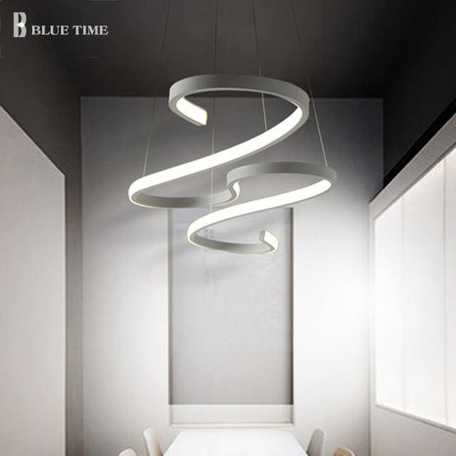 Online Shop Decorazione Curvo Moderno Lampadario LED Luci Della ...