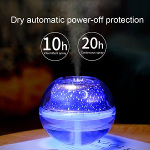 Image 3 - Crystal night lamp LED light star sky decorative colourful blub projector for home office 500ml air humidfier USB Desktop mist