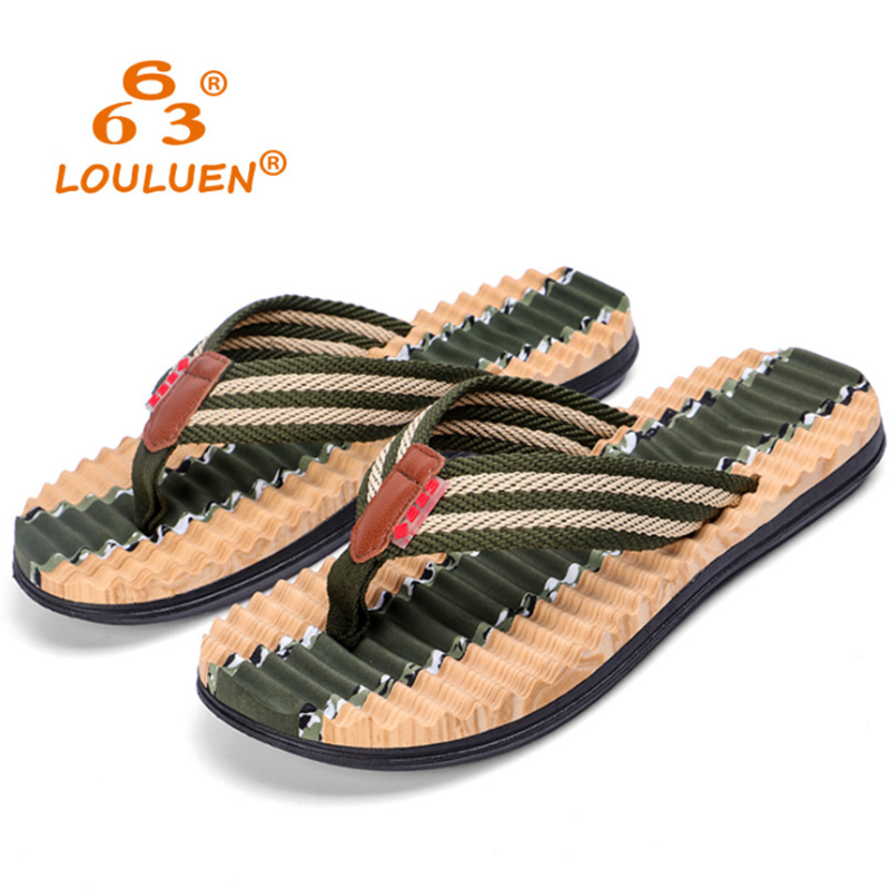 2018 Summer New Style Camouflage Flip Flops Men's European And American Fashion EVA Slippers Men's Tide Beach Casual Slippers 2018 summer ladies sandals leisure casual and european style slippers in europe and america