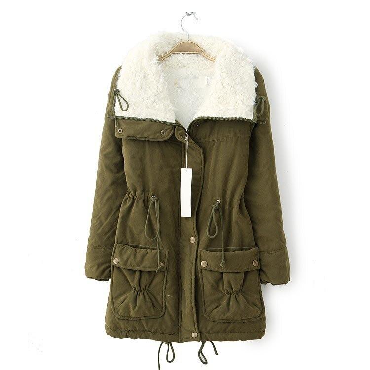 10 Colors Autumn Women   Parkas   Jacket Causal Faux Fur Collar Drawstring Short   Parkas   Coat Loose Cotton Warm Thick   Parkas   Jacket