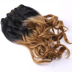 Image 5 - REYNA Sew in hair Ombre two tone Wavy synthetic hair extension weave 100% heat resistant Hair bundle