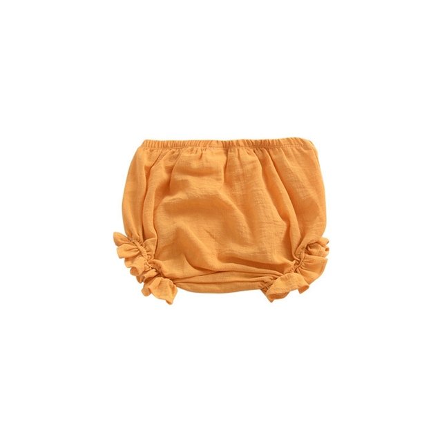 Casual Solid Cotton Shorts for Baby Girls