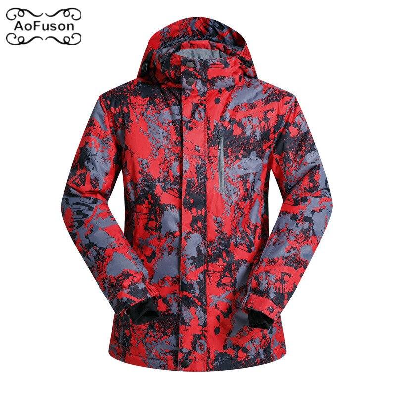 Ski costume hommes vestes à capuche hiver neige en plein air Sport imperméable coupe-vent épais chaud Ski Camping Snowboard manteau veste 2019