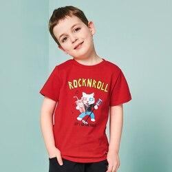47c220e1a Balabala 100% Algodão Camiseta de Manga curta verão Dos Desenhos Animados  t-shirts para