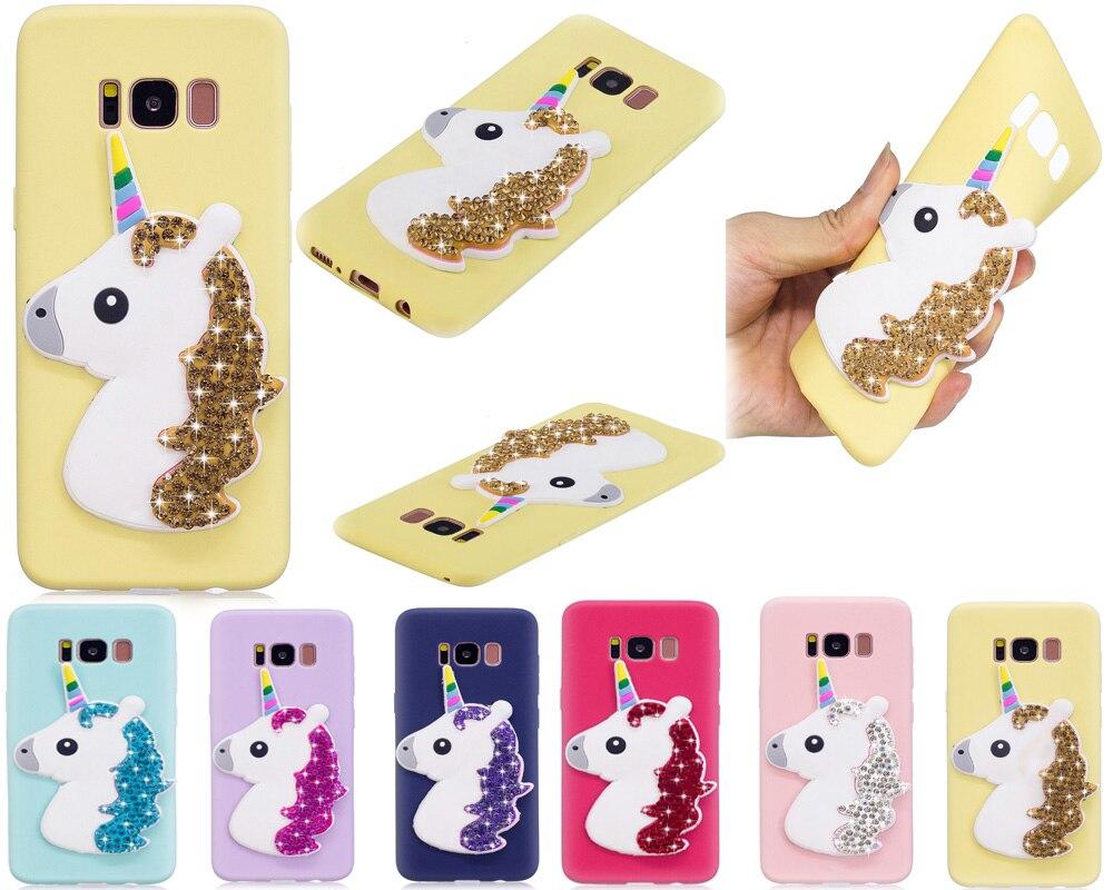 Cover for Samsung Galaxy S8 s8 s 8 sm-g950 G950FD g950 SM-G950F g950fd smartphone Cases Rhinestones TPU Ultra-thin soft shell