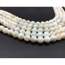 Wholesale Natural Beads Stone Stripes Chinese Shell For Jewelry Making DIY Bracelet Necklace 4 5 6 7 8 mm Strand Beaded
