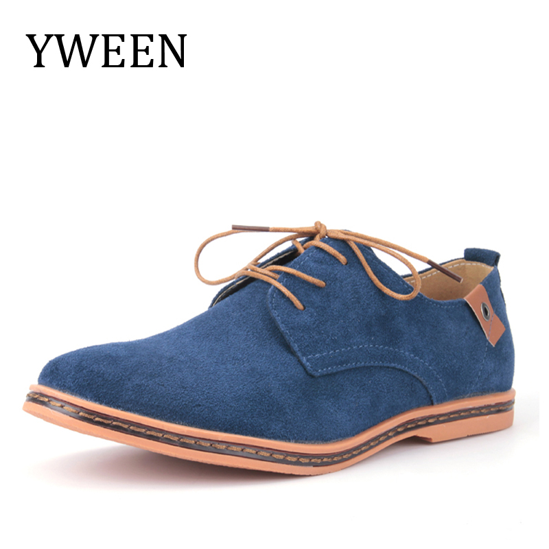 YWEEN Top Fashion Men Casual Shoes Spring Autumn Nubuck Leather Flock Leisure Shoe Hot Sale Promotion Man Oxford Derby Shoes стоимость