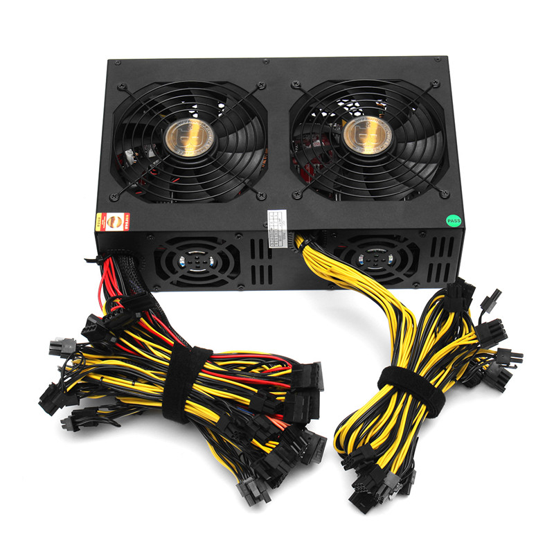 NEW 3450W ATX PC Miner Power Supply Machine 24 Graphics Interface with 113 High-end Graphics Card 80PLUS Gold For Bitcoin Mining цена