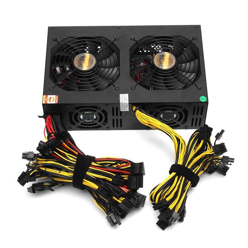 NOUVEAU 3450 W ATX PC Mineur Alimentation Machine 24 Graphique Interface avec 113 Haut de gamme Carte Graphique 80 PLUS D'or Pour Bitcoin l'exploitation minière