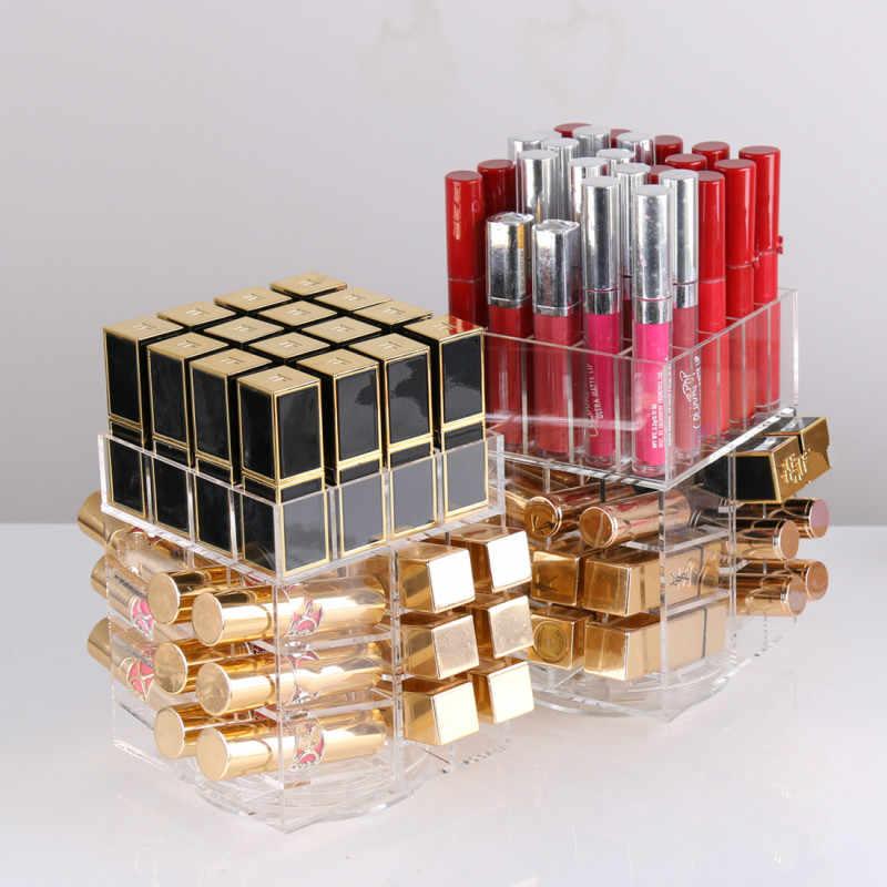Hoge Capaciteit Roterende Acryl Make Organizer Storage Case Lipstick Houder Dozen Roterende Lipgloss Organizer Display Dozen