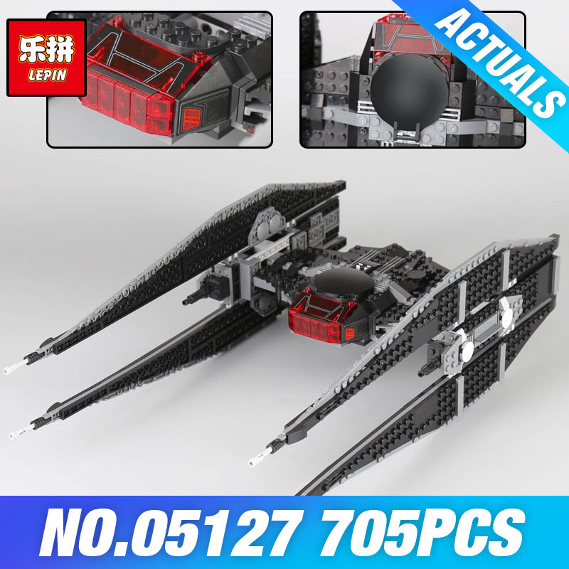 Lepin 05127 Star Plan The Tie Model Fighter Set 75179 Wars Toys Building Blocks Bricks Educational DIY Birthday Christmas Gifts lepin 05127 705pcs star plan series the 75179 tie model fighter set building blocks bricks educational kids toys christmas gifts