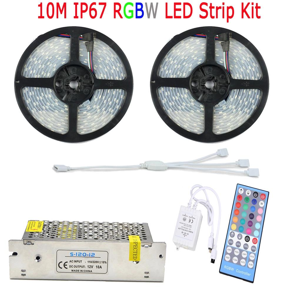 20M 15M 10M RGBW RGBWW LED Strip 5050 IP67 Суға төзімді - LED Жарықтандыру - фото 2