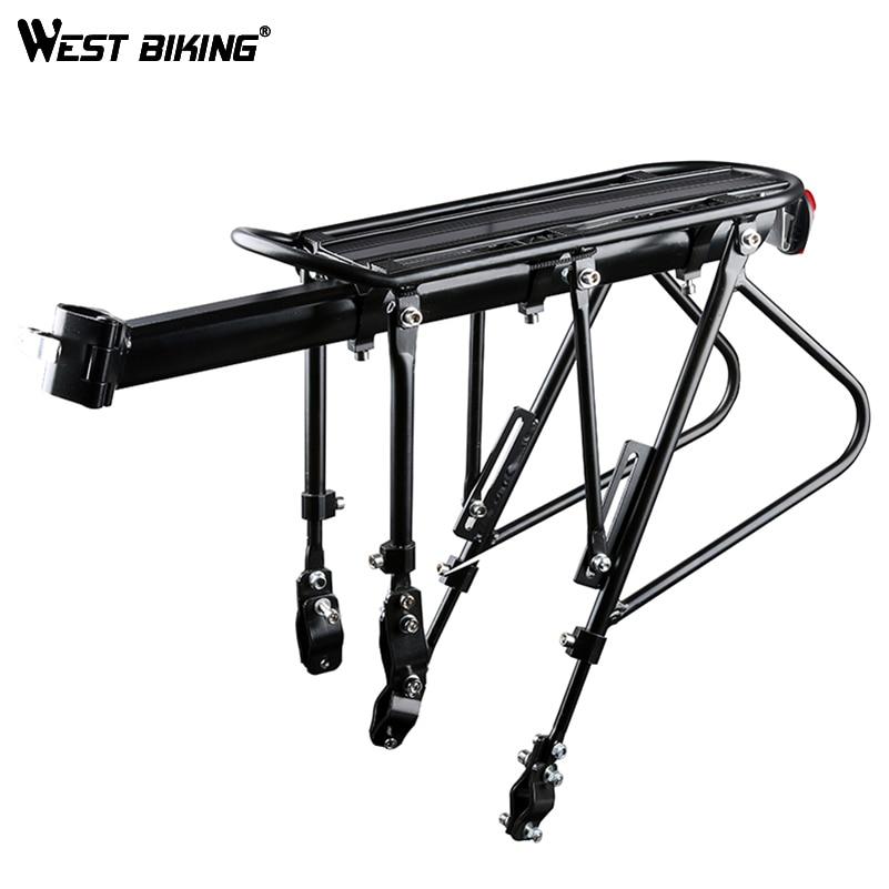 цена на WEST BIKING Bike Carrier Rack Bike Luggage Stand Aluminum Alloy + Steel Cycling Cargo Racks 140 KG Load-bearing Bicycle Racks