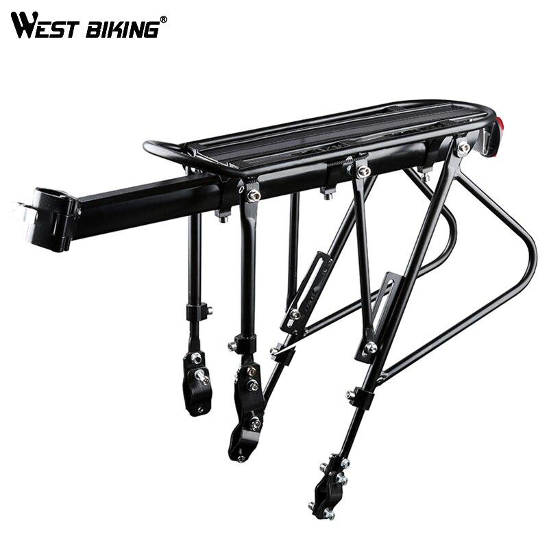 WEST vélo porte-vélo porte-bagages vélo support en alliage d'aluminium + acier vélo porte-bagages 140 KG porte-bagages porte-vélo