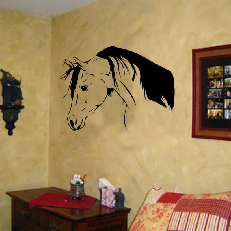 Most Popular Girls Bedroom Horse Wall Decals Removable