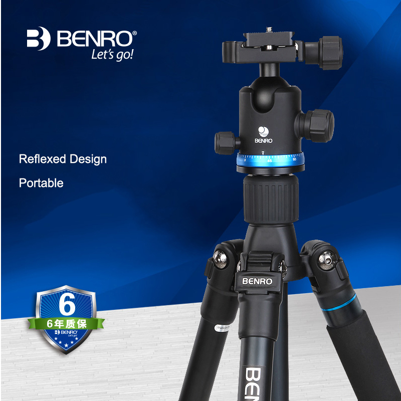 Benro New IF28+ Professional Tripod For Canon Nikon SONY SLR Camera Aluminum Alloy Photography Travel Bracket Head Stable Set new sys700 aluminum professional tripod