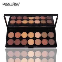 MISS ROSE Natural Shimmer eyeshadow palette super flash paleta Glitter eyeshadow pallete matte Eyeshadow smoky naked makeup