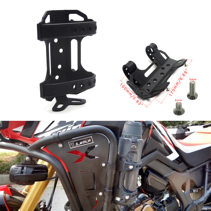 For R1200GS / ADV F800GS F700GS V-Strom Engine Guard Crash Bars Cup Holder Motorbike Beverage Water Bottle Drink Cup Holder 25MM
