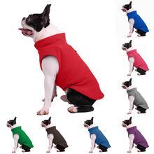 New Pet Puppy Dog Vest Solid Color Winter Warm Clothes Soft Coat Apparel Pullover цены онлайн