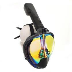 Покрытая Серебром маска для подводного плавания подводная противотуманная полный уход за кожей лица подводное плавание маска для женщин