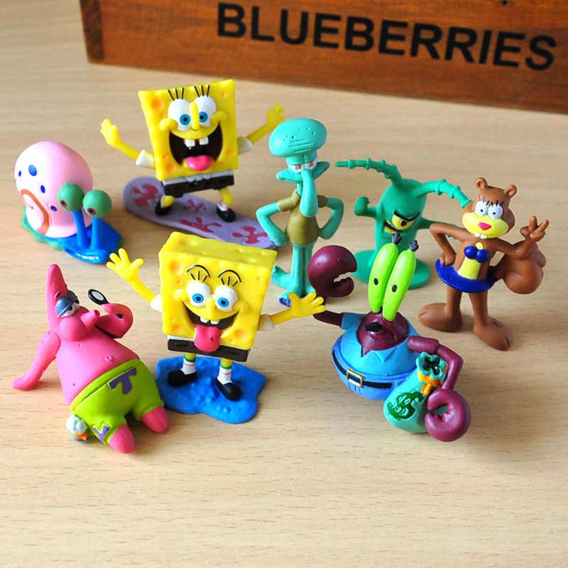 Detail Feedback Questions about 8pcs/set Spongebob figures