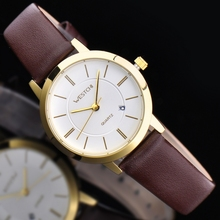 2016 WHESTCHI watches women qulity mens quartz watch leather fashion dress business waterproof women watchwhes