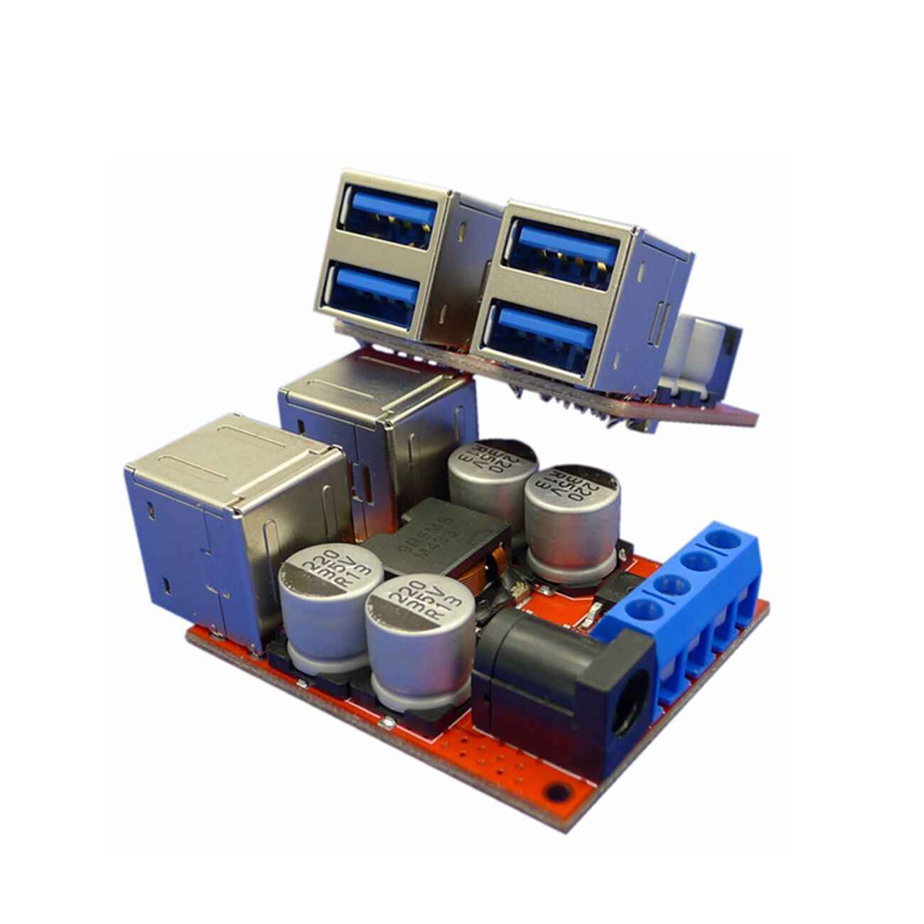 DC плата для зарядки автомобиля 8в 35в 5В 8А модуль разгерметизации питания 4 порта USB