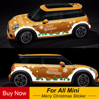 Car Whole Body Merry Christmas Decals Sticker Decoration For MINI Cooper One S Countryman F55 F56 F60 R55 R56 R60 Accessories