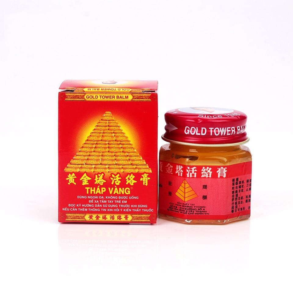 1 Bottle Vietnam Gold Tower Balm Active Ointment Arthritis Pain Relieving Patch Body Massage Cream Neck Massage Genuine Guarante